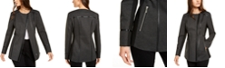 INC International Concepts INC Faux-Leather-Trim Moto Jacket, Created for Macy's