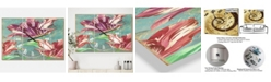 """Designart Vintage-Inspired Tulips in Paris Oversized Cottage 3 Panels Wall Clock - 38"""" x 38"""" x 1"""""""