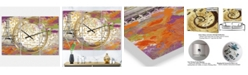 """Designart with Love From Paris 1 Large Traditional 3 Panels Wall Clock - 23"""" x 23"""" x 1"""""""