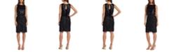R & M Richards Sequined Blouson Sheath Dress
