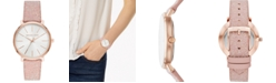Michael Kors Women's Pyper Blush Swarovski® Crystal Leather Strap Watch 38mm