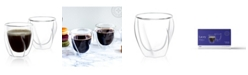 JoyJolt Lacey Double Wall Insulated Glasses Set of 2
