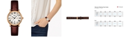 Tissot Women's Swiss Carson Premium Brown Leather Strap Watch 30mm