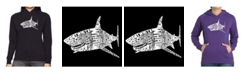 LA Pop Art Women's Word Art Hooded Sweatshirt -Species Of Shark