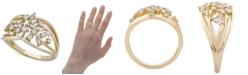 Macy's Diamond Openwork Scatter Statement Ring (1/3 ct. t.w.) in 10k Gold