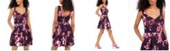Trixxi Juniors' Sweetheart Scuba Dress