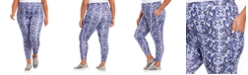 Ideology Plus Size Printed Pull-On Leggings, Created For Macy's