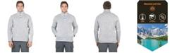 Mountain And Isles Men's 1/4 Snap 2-Tone Fleece Anorak Pullover