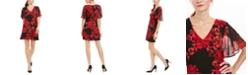 Connected Petite Floral-Print A-Line Dress