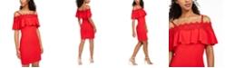BCX Juniors' Cold-Shoulder Bodycon Dress