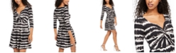 Planet Gold Juniors' Tie-Dye Twist-Front Dress