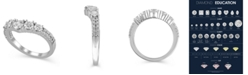 Macy's Certified Diamond (1-1/4 ct. t.w.) Contour Band in 14K White Gold
