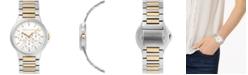 Rebecca Minkoff Womens Cali  Two Tone Stainless Steel Bracelet Watch 36MM