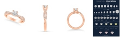 Macy's Diamond Twist Engagement Ring (5/8 ct. t.w.) in 14k Rose, Yellow or White Gold