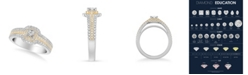 Macy's Diamond Princess Engagement Ring (3/4 ct. t.w.) in 14k Two Tone White & Yellow Gold or White & Rose Gold