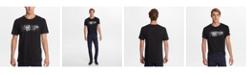 "Karl Lagerfeld Paris Men's Crew Neck T-Shirt With Oil Slick ""Eternal"" Graphic"