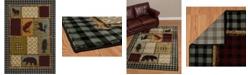 """Asbury Looms Designer Contours Cem Acadia Park 511 31775 912 Multi 7'10"""" x 10'6"""" Area Rug"""