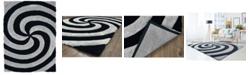 "Asbury Looms Finesse Pinnacle 2100 21772 24 Gray 1'10"" x 3' Area Rug"