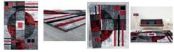"Asbury Looms Bristol Epsilon 2050 10130 69 Red 5'3"" x 7'6"" Area Rug"