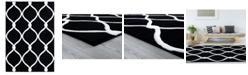 "Asbury Looms Bristol Rodanthe 2050 11570 24 Black 1'10"" x 2'8"" Area Rug"