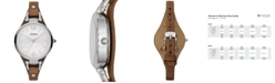 Fossil Women's Georgia Brown Leather Strap Watch 32mm ES3060