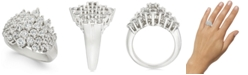 Macy's Diamond Cluster Statement Ring (3 ct. t.w.) in 14k White Gold