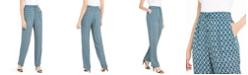 Elie Tahari Zuma Printed Pull-On Pants