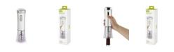 True Brands True Lux Electric Corkscrew Wine Bottle Opener- Silver