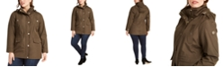 Michael Kors Plus Size Water-Resistant Hooded Anorak Jacket
