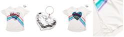 Belle Du Jour Big Girls 2-Pc. Flip Sequin Heart Top & Keychain