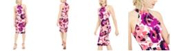 Trina Turk Emotion Printed Halter Sheath Dress