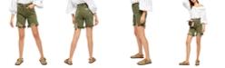 Free People Sequoia Denim Bermuda Shorts