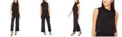 Calvin Klein Chiffon-Tie Popover Jumpsuit