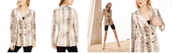 Bar III Snake-Print Blazer, Created for Macy's
