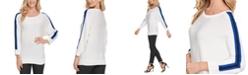 DKNY Colorblocked-Stripe Sweater