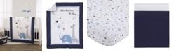 NoJo Safari Moon and Stars 3-Piece Crib Bedding Set