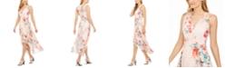 Calvin Klein Floral-Print High-Low Dress