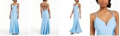 Nightway Gia Lattice-Back Mermaid Gown