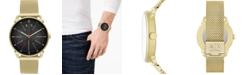 A|X Armani Exchange Men's Rocco Gold-Tone Stainless Steel Mesh Bracelet Watch 44mm