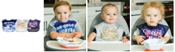 tiny twinkle Baby Boys and Girls Pack of 3 Polyester Unisex Easy Bib Set