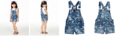 Epic Threads Little Girls Butterfly Denim Shortalls, Created for Macy's
