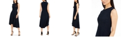 Elie Tahari Sleeveless Asymmetrical-Hem Dress