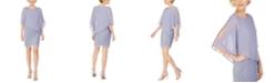 Connected Petite Chiffon-Overlay Sheath Dress