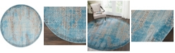 """Long Street Looms Fate FAT01 Blue 7'10"""" Round Area Rug"""