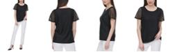 Calvin Klein Sheer-Stripe Top