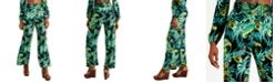 Bar III Smocked Printed Wide-Leg Pants, Created for Macy's