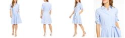 Calvin Klein Cotton Striped Shirtdress