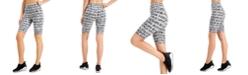 Calvin Klein Brush-Logo High-Waist Bike Shorts