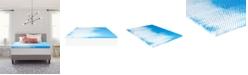 "Comfort Revolution 2"" Reversible Convoluted Memory Foam Mattress Topper, Full"
