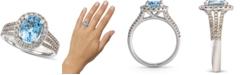 Le Vian Sea Blue Aquamarine® (1-3/8 ct. t.w.) & Nude Diamond™ (5/8 ct. t.w.) Ring in 14k White Gold